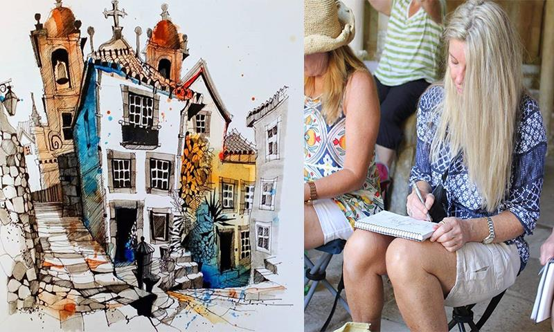 Travel Sketching Tours with Renowned Artists