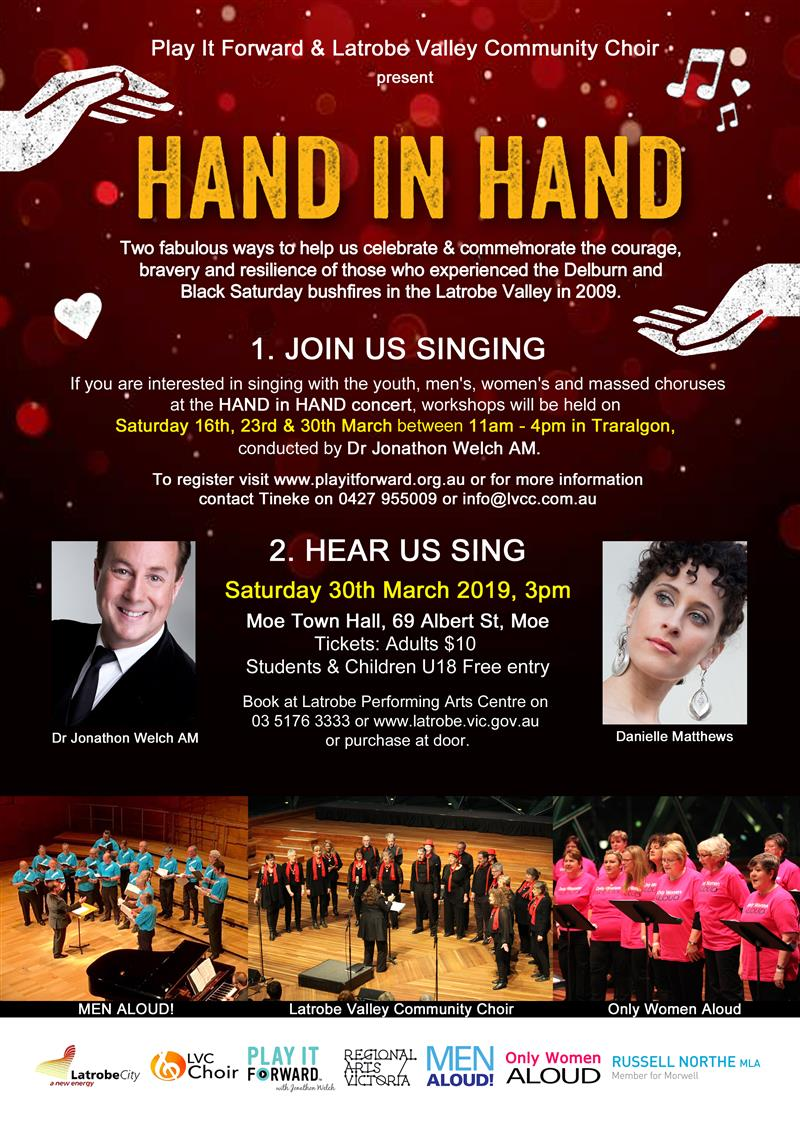 Play It Forward and Latrobe Valley Community Choir present HAND IN HAND