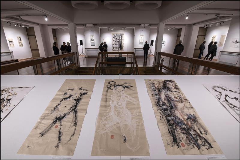 MUSEUM EXHIBITION OF ALFRED FREDDY KRUPA: MODERN INK PAINTING