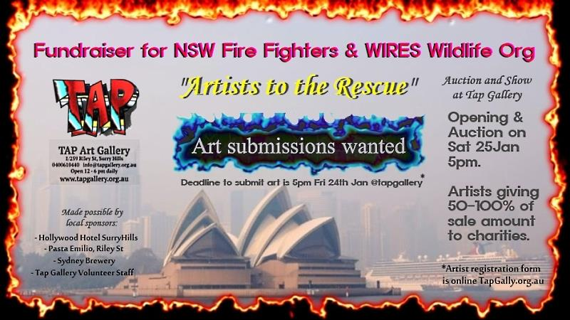 Art Auction Fundraiser for WIRES & NSWfirefighters