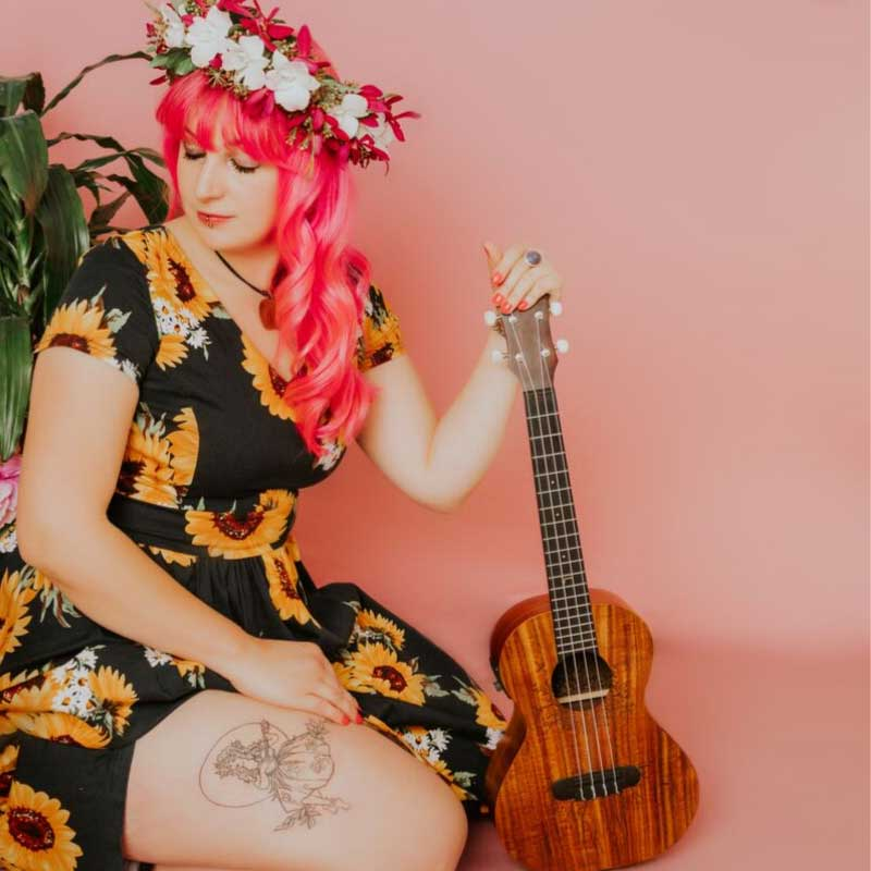 Ukulele Dream Girl Takes Her Songs & Plants On A Diamond Tour