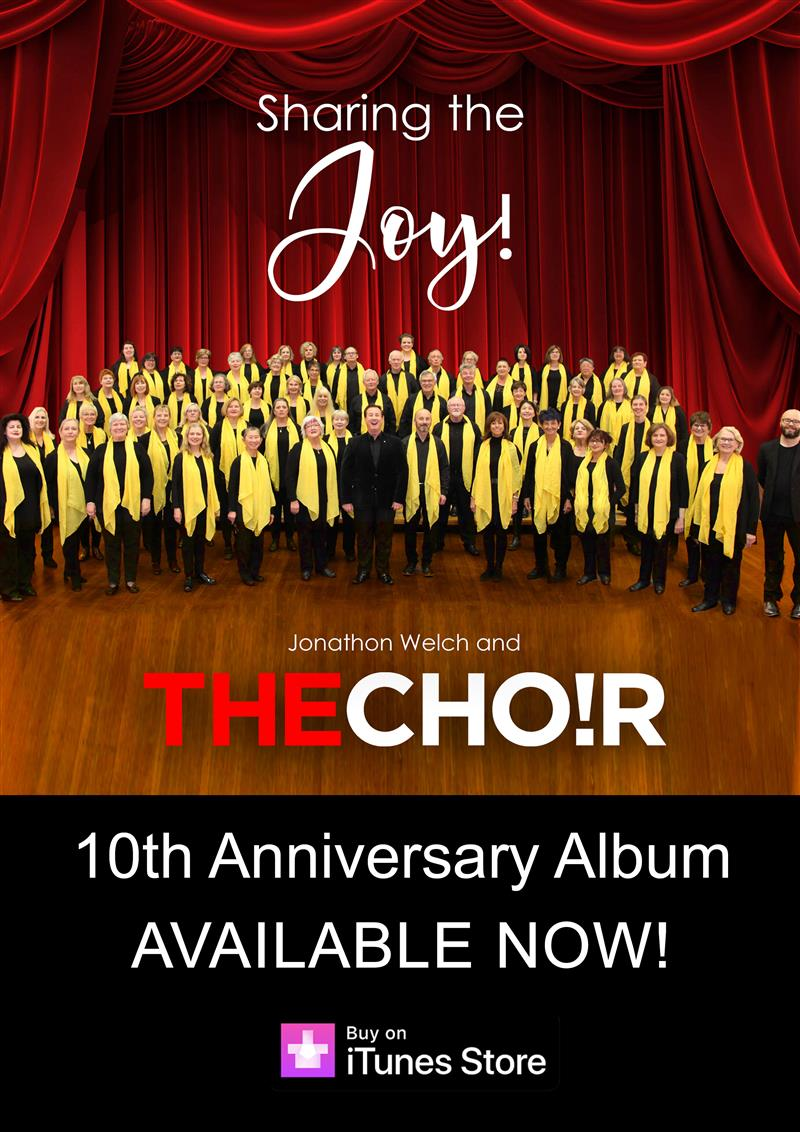 Sharing The Joy album launched, THECHO!R conducted by Founding Artistic Director, Jonathon Welch AM release their 10th anniversary album